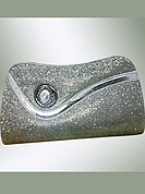 Be stylish with this beautiful trendy clutch purse. This purse is nicely designed with stone brooch and silver chain. it is made with silver shimmering fabric. It is handy to carry and impress to all in everywhere. This purse used in parties. Slight Color variations are possible due to differing screen and photograph resolutions.