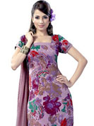 Ultimate collection of embroidered suits with fabulous style. This beautiful and simple kameez is nicely designed with graceful print work in floral pattern. This suit is made with crepe fabric. It's a perfect casual wear suit.  Color blend of this drape make attractive everywhere. Matching salwar and dupatta made it attractive and unique to others. Slight Color variations are possible due to differing screen and photograph resolutions.