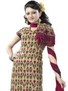 Let your personality articulate for you with this amazing embroidered suit. This beautiful and simple kameez is nicely designed with graceful print work in floral pattern. This suit is made with crepe fabric. It's a perfect casual wear suit.  Color blend of this drape make attractive everywhere. Matching salwar and dupatta made it attractive and unique to others. Slight Color variations are possible due to differing screen and photograph resolutions.