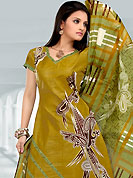 Bold colors created by the inventive drapes of textile catch the imagination like no other contemporary clothing. This Suit has beautiful printed kameez which is crafted with paisley, stripes and dot print work. Color combination of suit is fascinating and make you trendy look. This casual wear drape made with cotton fabric. Matching dupatta and churidar is available. Slight Color variations are possible due to differing screen and photograph resolutions.