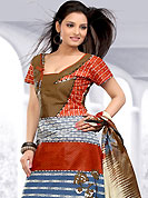 Attract all attentions with this printed suit. This Suit has beautiful printed kameez which is crafted with floral, dot and geometrical art print work. Color combination of suit is fascinating and make you trendy look. This casual wear drape made with cotton fabric. Matching dupatta and churidar is available. Slight Color variations are possible due to differing screen and photograph resolutions.