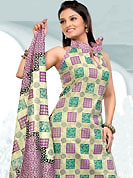 Ultimate collection of printed suits with fabulous style. This Suit has beautiful printed kameez which is crafted with floral and geometric print work. Color combination of suit is fascinating and make you trendy look. This casual wear drape made with cotton fabric. Matching dupatta and churidar is available. Slight Color variations are possible due to differing screen and photograph resolutions.