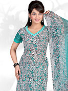 Ultimate collection of printed suits with fabulous style. This Suit has beautiful printed kameez which is crafted with floral and abstract print work. Color combination of suit is fascinating and make you trendy look. This casual wear drape made with crepe fabric. Matching dupatta and churidar is available. Slight Color variations are possible due to differing screen and photograph resolutions.