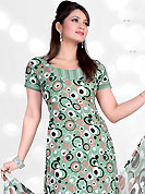 Printed suits are the best choice for a girl to enhance her feminine look. This Suit has beautiful printed kameez which is crafted with circle and dot print work. Color combination of suit is fascinating and make you trendy look. This casual wear drape made with crepe fabric. Matching dupatta and churidar is available. Slight Color variations are possible due to differing screen and photograph resolutions.