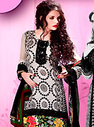 Era with extension in fashion, style, Grace and elegance have developed grand love affair with this ethnical wear. This well-designed kameez nicely designed with floral print and embroidery patch work. Embroidery is done with resham work in form of floral motifs. Embroidery on kameez is highlighting the beauty of this suit. Matching dupatta and pakistani salwar come along with this suit. This beautiful party wear suit is made with georgette fabric. Slight Color variations are possible due to differing screen and photograph resolutions.