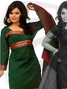 An endearing splash oh colors look gorgeous tridimensional charm. This beautiful kameez which is crafted with self weaving, thread fringes and patch work. Color combination of suit is fascinating and make you trendy look. This casual wear drape made with south cotton fabric. Contrasting deep brown churidar and dupatta is available. Slight Color variations are possible due to differing screen and photograph resolutions.