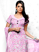 Outfit is a novel ways of getting yourself noticed. This Suit has beautiful printed kameez which is crafted with floral pattern. This casual wear drape made with cotton fabric. Matching dupatta and churidar is available. The entire ensemble makes an excellent wear. Slight Color variations are possible due to differing screen and photograph resolutions.
