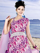 Ultimate collection of printed suits with fabulous style. This pink and purple cotton salwar kameez which is crafted with floral print, lace and patch work. Color combination of suit is fascinating and make you trendy look. Contrasting mauve salwar and dupatta is available with this. Slight Color variations are possible due to differing screen and photograph resolutions.