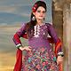 Pale Violet Cotton Churidar Kameez with Dupatta