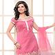Pink Chanderi Silk Churidar Kameez with Dupatta