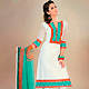 White Cotton Churidar Kameez with Dupatta