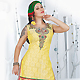 Yellow Art Silk Readymade Salwar Kameez with Dupatta