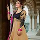 Fawn Georgette Long Style Anarkali Churidar Kameez with Dupatta