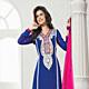 Royal Blue Faux Georgette Churidar Kameez with Dupatta