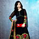 Black Brasso Long Style Anarkali Churidar Kameez with Dupatta