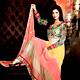 Multicolor Georgette Long Style Anarkali Churidar Kameez with Dupatta