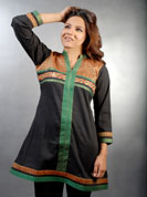 Cotton crush kurti with brocket patch work