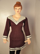 designer cotton kurti and neck on full design with less and full sleaves with less work and bottom on less.