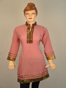 designer cotton kurti and bottom on lace work and full sleeves with lace work and neck on lace with patch work.