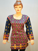 Ultimate collection with traditional designer print soft cotton kurtis with full sleeve, with border havy print