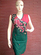 A Graceful silk kurti is nicely designed with thread worked floral embroidery and piping work. This kurti is used for casual and party purpose. Nice mixing of colors and work make different to others. Another colors of this kurti shown in image. Slight Color variations are possible due to differing screen and photograph resolutions.