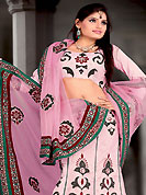 Let your personality speak for you this bridal lehenga embellished with embroidery work. This light pink lehenga choli is nicely embroidered and patch work done with  resham and sequins work in form of floral motifs. All over embroidery work on lehenga is stunning. The beautiful embroidery on lehenga made it awesome and gives you stylish and attractive look to others. Matching and dupatta is availble with this lehenga. Slight Color variations are possible due to differing screen and photograph resolutions.