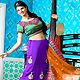 Purple Crepe A-Line Lehenga Choli with Dupatta