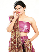 Welcome to the new era of Indian fashion wear. This purple net lehenga is nicely embroidered patch work is done with zardosi, sequins, stone, cutdana, beads and cutbeads work. The beautiful embroidery on lehenga made it awesome and gives you stylish and attractive look to others. Matching choli and dupatta is availble with this lehenga. Slight Color variations are possible due to differing screen and photograph resolutions.