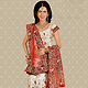 White Net A-Line Lehenga Choli with Dupatta