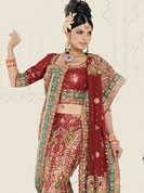 Its cool and have a very modern look to impress all. A Lehenga made with georgette fabric. This lehenga embellished with stone, sitara, zarkins, and resham work. The beautiful heavy embroidery made it awesome and gives you stylish and attractive look to others. The matching blouse and chunari are enhanced your personality. Slight Color variations possible due to differing screen and photograph resolutions.