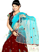 It's cool and has a very modern look to impress all. A Lehenga made with georgette Fabric is simply beautiful. This lehenga embellished with stone, sitara, mirror, zari and resham work. The beautiful embroidery on lehenga made it awesome and gives you stylish and attractive look to others. The matching blouse and chunari are enhanced your personality.  Slight Color variations are possible due to differing screen and photograph resolutions.