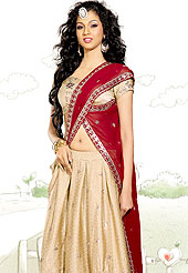 Symbol of fashion and beauty, each piece of our range of georgette lehenga choli is certain to increase your look. A Lehenga made with georgette Fabric is simply beautiful. This lehenga embellished with stone, sitara, mirror, zari and resham work. The beautiful embroidery on lehenga made it awesome and gives you stylish and attractive look to others. The matching blouse and chunari are enhanced your personality.  Slight Color variations are possible due to differing screen and photograph resolutions.