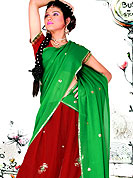 No one like ordinary look, because every woman has their own beauty and our collection gives extra ordinary look to you. A Lehenga made with georgette Fabric is simply beautiful. This lehenga embellished with stone, sitara, mirror, zari and resham work. The beautiful embroidery on lehenga made it awesome and gives you stylish and attractive look to others. The matching blouse and chunari are enhanced your personality.  Slight Color variations are possible due to differing screen and photograph resolutions.