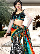 Outfit is a novel ways of getting yourself noticed. Tryout this season red embroidery lehenga which is beautified with Sequins, stone, zari and resham work. Lehenga is nicely designed with border with huge embroidery floral pattern which gives a pretty look. Embroidered butti and border on dupatta increasing beauty of lehenga. Matching designer blouse is available. Slight Color variations are possible due to differing screen and photograph resolutions.