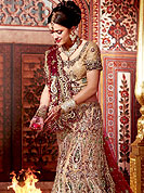 The traditional patterns used on this georgette lehenga maintain the ethnic look. This drape blown up with Sequins, stone, zari, kundan, nag, resham and velvet patch work. Floral embroidery on lehenga and border make different to others. Contrast of color make attractive and impress to all. Lehenga with dupatta and choli gives you a singular and dissimilar look. Slight Color variations are possible due to differing screen and photograph resolutions.