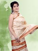 Elegance and innovation of designs crafted for you.This saree have beautiful thread work in floral pattern. Border make unique to others and enhanced your personality. This saree is made with cotton fabric. Matching blouse is available. Slight Color variations are possible due to differing screen and photograph resolutions.