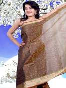 Your search for elegant look ends here with this lovely saree. This simple saree is nicely designed with beautiful print work on all over in floral patterns with art silk border. This saree is made with silk fabric. Matching blouse is available. It's cool and has a very modern look to impress all. Slight Color variations are possible due to differing screen and photograph resolutions.