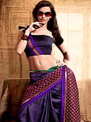 Different colors are a perfect blend of traditional Indian heritage and contemporary artwork. This beautiful saree is nicely designed with self weaving and patch work in fabulous style. It will enhance your personality and gives you a singular look. Graceful patch of brocade pallu of the saree is nice and impress to all. Matching blouse is available with this saree. This drape is made with dupion silk fabric. Slight color variations are due to differing screen and photography resolution.