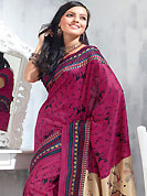 An endearing splash oh colors look gorgeous tridimensional charm. This saree is nicely designed with abstract, geometric and traditional art print work in fabulous style. This beautiful saree is used for festival and casual porpose which gives you a singular and dissimilar look. Color blend of this saree is nice. This saree is made with art silk fabric. Matching blouse is available with this saree. Slight Color variations are possible due to differing screen and photograph resolutions.