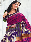 The evolution of style species collection spells pure femininity. This saree is nicely designed with floral, geometric and stripe print work in fabulous style. This beautiful saree is used for festival and casual porpose which gives you a singular and dissimilar look. Color blend of this saree is nice. This saree is made with art silk fabric. Matching blouse is available with this saree. Slight Color variations are possible due to differing screen and photograph resolutions.