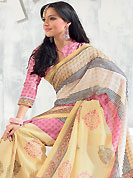 Make a trendy look with this classic printed saree. This saree is nicely designed with floral and geometric art print work in fabulous style. This beautiful saree is used for festival and casual porpose which gives you a singular and dissimilar look. Color blend of this saree is nice. This saree is made with art silk fabric. Matching blouse is available with this saree. Slight Color variations are possible due to differing screen and photograph resolutions.