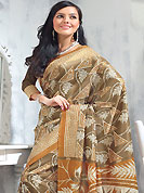Try out this year top trend, glowing, bold and natural collection. This saree is nicely designed with floral, leaf and geometric art print work in fabulous style. This beautiful saree is used for festival and casual porpose which gives you a singular and dissimilar look. Color blend of this saree is nice. This saree is made with art silk fabric. Matching blouse is available with this saree. Slight Color variations are possible due to differing screen and photograph resolutions.