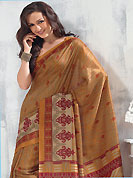 Envelope yourself in classic look with this charming saree. This saree is nicely designed with floral, abstract, stripe and geometric art print work in fabulous style. This beautiful saree is used for festival and casual porpose which gives you a singular and dissimilar look. Color blend of this saree is nice. This saree is made with art silk fabric. Matching blouse is available with this saree. Slight Color variations are possible due to differing screen and photograph resolutions.