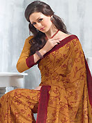 The evolution of style species collection spells pure femininity. This saree is nicely designed with floral print work in fabulous style. This beautiful saree is used for festival and casual porpose which gives you a singular and dissimilar look. Color blend of this saree is nice. This saree is made with art silk fabric. Matching blouse is available with this saree. Slight Color variations are possible due to differing screen and photograph resolutions.