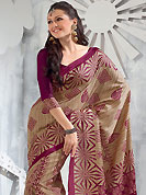 The traditional patterns used on this saree maintain the ethnic look. This saree is nicely designed with floral, paisley, stripe and geometric print work in fabulous style. This beautiful saree is used for festival and casual porpose which gives you a singular and dissimilar look. Color blend of this saree is nice. This saree is made with art silk fabric. Matching blouse is available with this saree. Slight Color variations are possible due to differing screen and photograph resolutions.