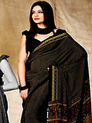 The most radiant carnival of style and beauty. This saree is nicely designed with floral, paisley and geometric print work in fabulous style. This beautiful saree is used for casual porpose which gives you a singular and dissimilar look. Color blend of this saree is nice. This saree is made with faux crepe fabric. Matching blouse is available with this saree. Slight Color variations are possible due to differing screen and photograph resolutions.