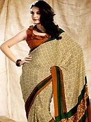This season dazzle and shine in pure colors. This saree is nicely designed with floral and paisley print work in fabulous style. This beautiful saree is used for casual porpose which gives you a singular and dissimilar look. Color blend of this saree is nice. This saree is made with faux crepe fabric. Matching blouse is available with this saree. Slight Color variations are possible due to differing screen and photograph resolutions.