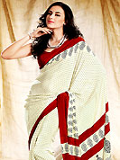 Elegance and innovation of designs crafted for you. This saree is nicely designed with floral, paisley and dot print work in fabulous style. This beautiful saree is used for casual porpose which gives you a singular and dissimilar look. Color blend of this saree is nice. This saree is made with faux crepe fabric. Matching blouse is available with this saree. Slight Color variations are possible due to differing screen and photograph resolutions.