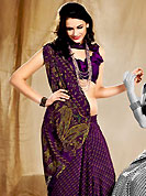 Take the fashion industry by storm in this beautiful Printed saree. This saree is nicely designed with floral and paisley print work in fabulous style. This beautiful saree is used for casual porpose which gives you a singular and dissimilar look. Color blend of this saree is nice. This saree is made with faux crepe fabric. Matching blouse is available with this saree. Slight Color variations are possible due to differing screen and photograph resolutions.