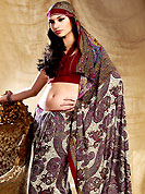 Era with extension in fashion, style, Grace and elegance have developed grand love affair with this ethnical wear. This saree is nicely designed with floral and paisley print work in fabulous style. This beautiful saree is used for casual porpose which gives you a singular and dissimilar look. Color blend of this saree is nice. This saree is made with faux crepe fabric. Matching blouse is available with this saree. Slight Color variations are possible due to differing screen and photograph resolutions.
